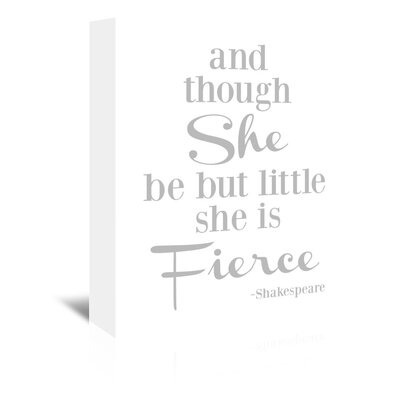 Americanflat 'She Is Fierce V2' by Amy Brinkman Typography Wrapped on Canvas in Grey