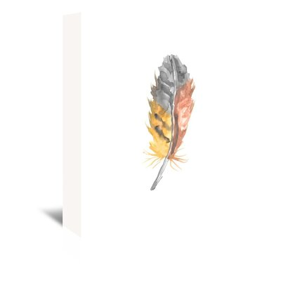 Americanflat 'Feather 2' by Jetty Printables Graphic Art Wrapped on Canvas