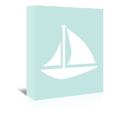 Americanflat 'Sailboat' by Jetty Printables Graphic Art Wrapped on Canvas
