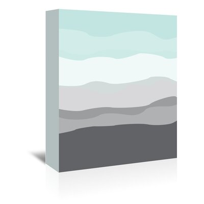 Americanflat 'Mint Grey Abstract' by Jetty Printables Graphic Art Wrapped on Canvas