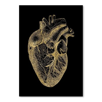 Americanflat 'Heart Anatomical' by Amy Brinkman Graphic Art