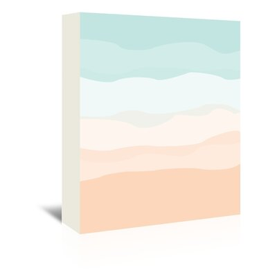 Americanflat 'Mint Peach Abstract' by Jetty Printables Graphic Art Wrapped on Canvas
