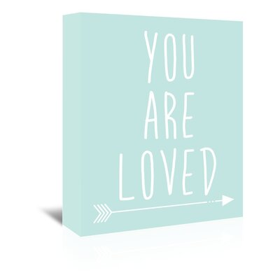 Americanflat 'Mint You Are Loved' by Jetty Printables Typography Wrapped on Canvas