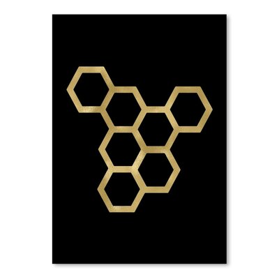 Americanflat 'Honeycomb Modern' by Amy Brinkman Graphic Art