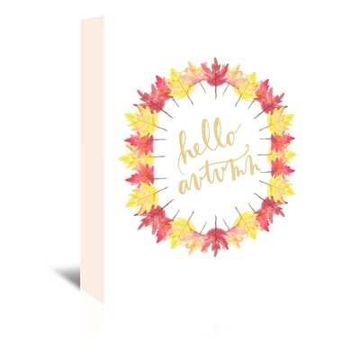 Americanflat 'Hello Autum' by Jetty Printables Graphic Art Wrapped on Canvas