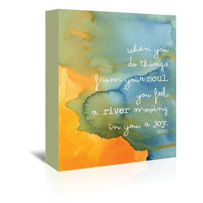 Americanflat 'Rumi Water Soul River' by Amy Brinkman Typography Wrapped on Canvas