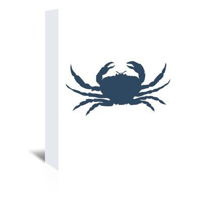 Americanflat 'Crab' by Jetty Printables Graphic Art Wrapped on Canvas in Blue