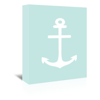Americanflat 'Anchor' by Jetty Printables Graphic Art Wrapped on Canvas in Blue
