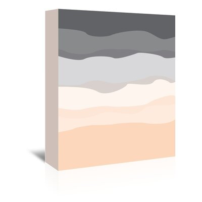 Americanflat 'Grey Peach Abstract' by Jetty Printables Graphic Art Wrapped on Canvas