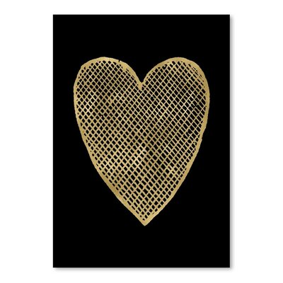 Americanflat 'Heart Crosshatched' by Amy Brinkman Graphic Art