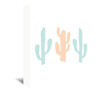 Americanflat 'Mint Peach Cactus' by Jetty Printables Graphic Art Wrapped on Canvas
