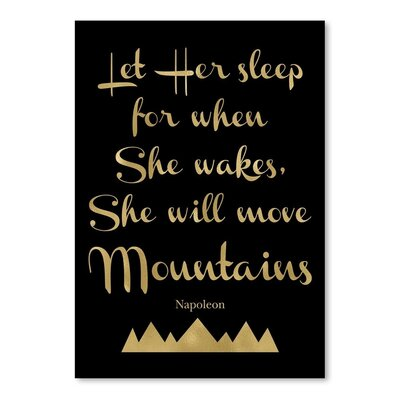 Americanflat Let Her Sleep Mountains' by Amy Brinkman Typography