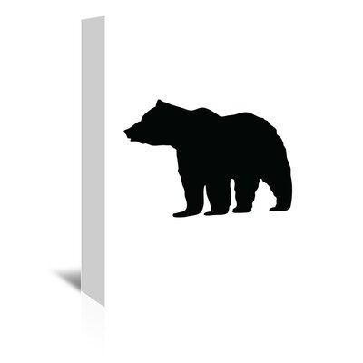 Americanflat 'Black Bear' by Jetty Printables Graphic Art Wrapped on Canvas