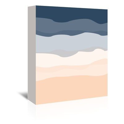 Americanflat 'Navy Peach Abstract' by Jetty Printables Graphic Art Wrapped on Canvas