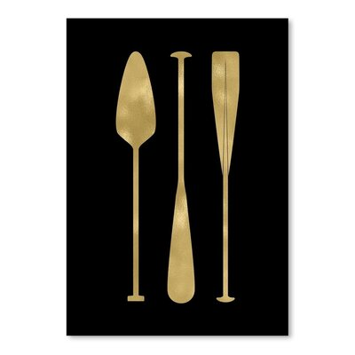 Americanflat 'Oar Paddles' by Amy Brinkman Graphic Art in Black