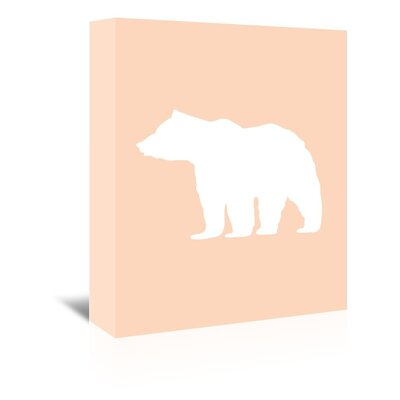 Americanflat 'Peach White Bear' by Jetty Printables Graphic Art Wrapped on Canvas