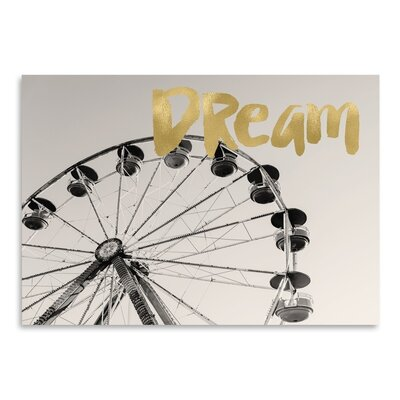 Americanflat 'Ferris Wheel Dream Gold on BWPhoto' by Amy Brinkman Graphic Art