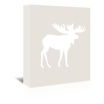 Americanflat 'Moose' by Jetty Printables Graphic Art Wrapped on Canvas in White