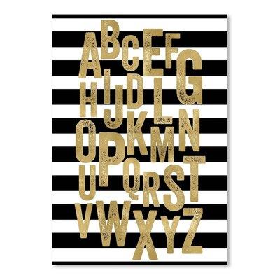 Americanflat 'Alphabet Black White Stripe' by Amy Brinkman Graphic Art