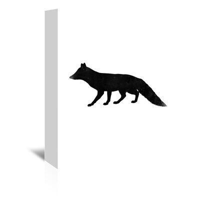 Americanflat 'Black White Faded Fox' by Jetty Printables Graphic Art Wrapped on Canvas