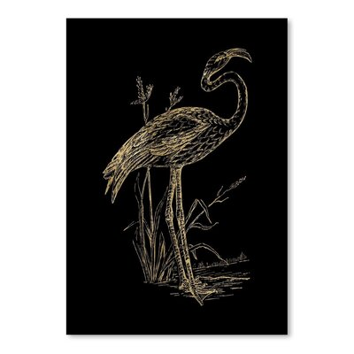 Americanflat 'Flamingo 2' by Amy Brinkman Graphic Art