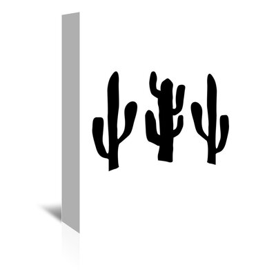 Americanflat 'Black Cactus' by Jetty Printables Graphic Art Wrapped on Canvas