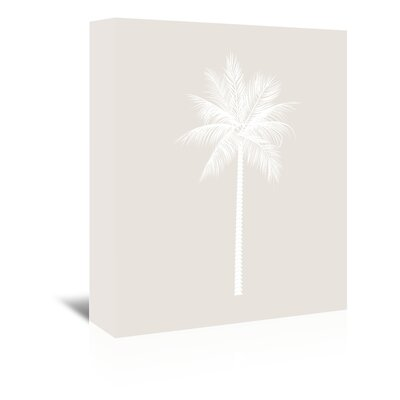 Americanflat 'Palm' by Jetty Printables Graphic Art Wrapped on Canvas in Grey