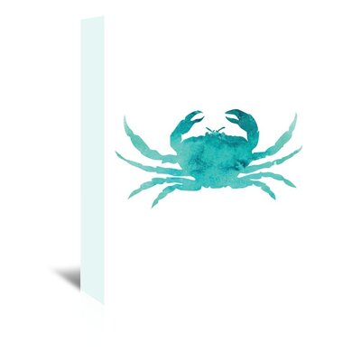 Americanflat 'Watercolour Crab' by Jetty Printables Graphic Art Wrapped on Canvas