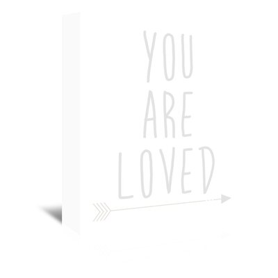 Americanflat 'Beige You Are Loved' by Jetty Printables Typography Wrapped on Canvas