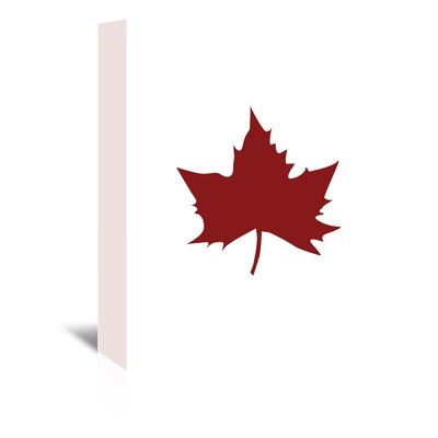 Americanflat 'Red Leaf' by Jetty Printables Graphic Art Wrapped on Canvas