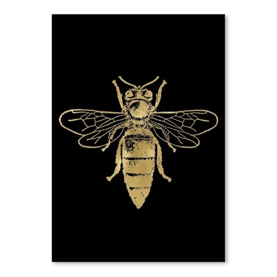Americanflat 'Bumblebee Gold on Black' by Amy Brinkman Graphic Art
