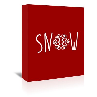 Americanflat 'Red White Snow Snowflake' by Jetty Printables Graphic Art Wrapped on Canvas
