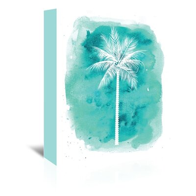 Americanflat 'Watercolour B Palm' by Jetty Printables Graphic Art Wrapped on Canvas