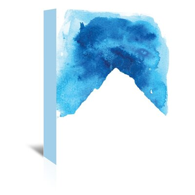 Americanflat 'Watercolourlue Mountain' by Jetty Printables Graphic Art Wrapped on Canvas