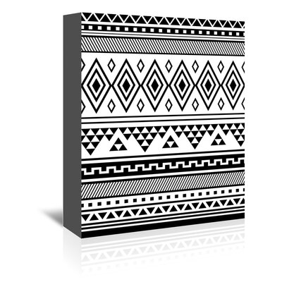 Americanflat 'Black Tribal' by Jetty Printables Graphic Art Wrapped on Canvas