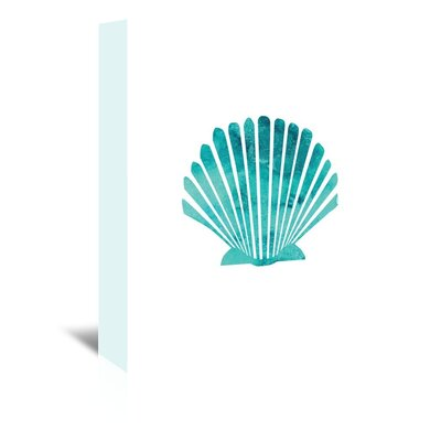 Americanflat 'Watercolour Scallop Shell' by Jetty Printables Graphic Art Wrapped on Canvas