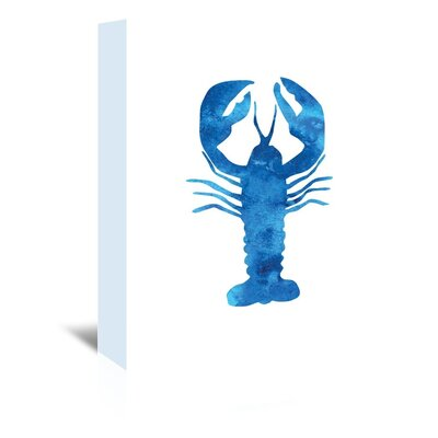 Americanflat 'Watercolour Lobster' by Jetty Printables Graphic Art Wrapped on Canvas