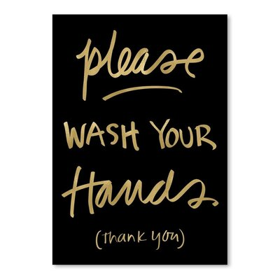Americanflat 'Please Wash Hands' by Amy Brinkman Typography
