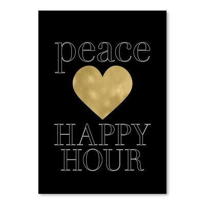 Americanflat 'Peace Love Happy Hour' by Amy Brinkman Graphic Art