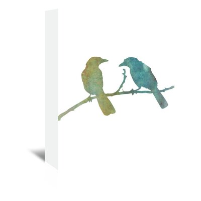 Americanflat 'Bird' by Jetty Printables Graphic Art Wrapped on Canvas in Green