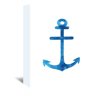 Americanflat 'Watercolourlue Anchor' by Jetty Printables Graphic Art Wrapped on Canvas