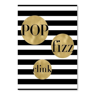 Americanflat 'Pop Fizz Clink Stripe' by Amy Brinkman Graphic At