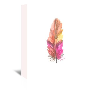 Americanflat 'Feather 6' by Jetty Printables Graphic Art Wrapped on Canvas