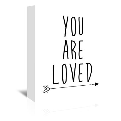 Americanflat 'You Are Loved' by Jetty Printables Typography Wrapped on Canvas in Black