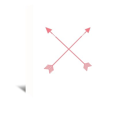 Americanflat 'Arrow' by Jetty Printables Graphic Art Wrapped on Canvas in Red