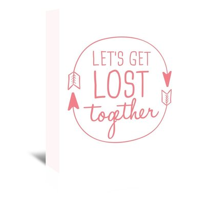 Americanflat 'Let's Get Lost' by Jetty Printables Typography Wrapped on Canvas in Red