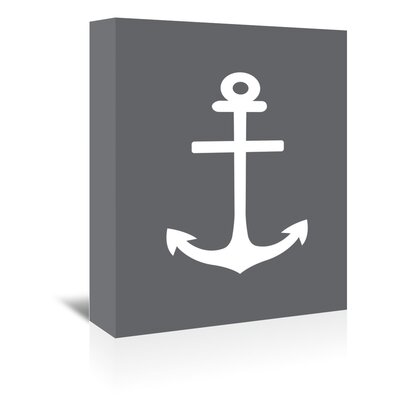 Americanflat 'Anchor' by Jetty Printables Graphic Art Wrapped on Canvas in Grey