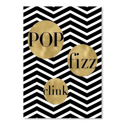 Americanflat 'Pop Fizz Clink Chevron' by Amy Brinkman Typography