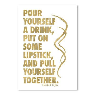 Americanflat 'Pour Yourself' by Amy Brinkman Typography in White