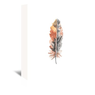 Americanflat 'Feather 4' by Jetty Printables Graphic Art Wrapped on Canvas